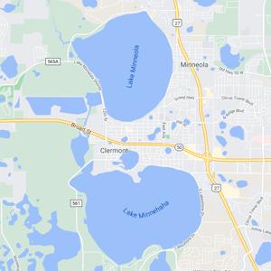 clermont fl map